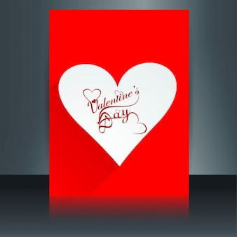 Red color love card with heart