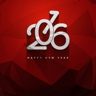 Red color new year 2016 greeting