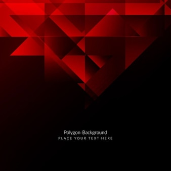 Red color polygonal background