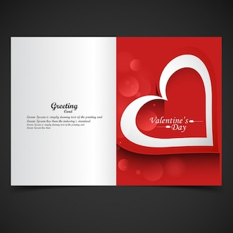 Red color valentine greeting