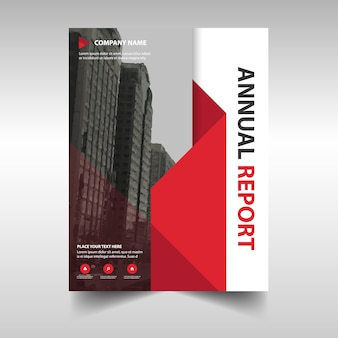 Red commercial annual report template