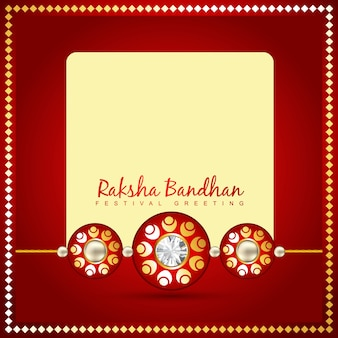 Red design with space for text for raksha bandhan