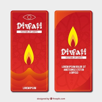 Red diwali banners