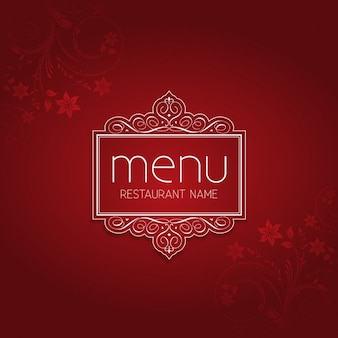 Red Elegant Restaurant Menu