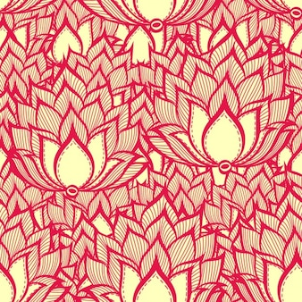 Red floral background