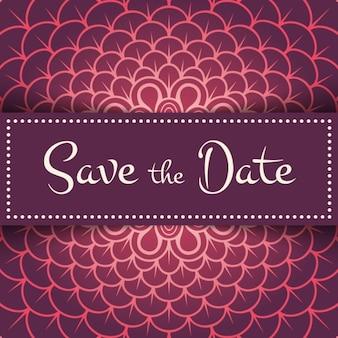 Red floral wedding invitation