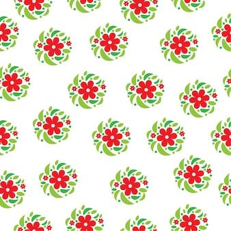 赤い花のパターンの背景