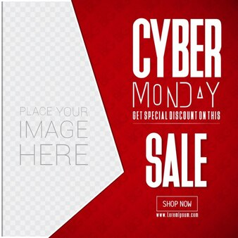 Red geometric background, cyber monday
