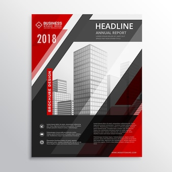 Red geometric business brochure design