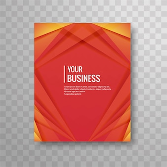 Red geometric business brochure