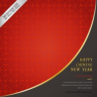 Red geometric chinese new year background