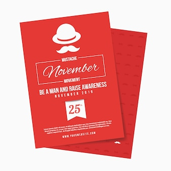 Red greeting card of movember