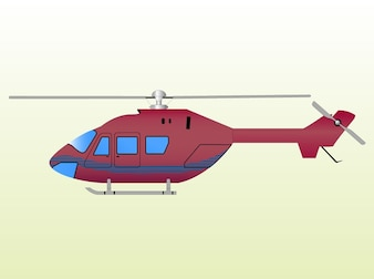 Red helicopter fly clip art