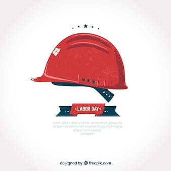 Red helmet labor day background