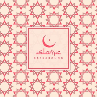 Red islamic stars background