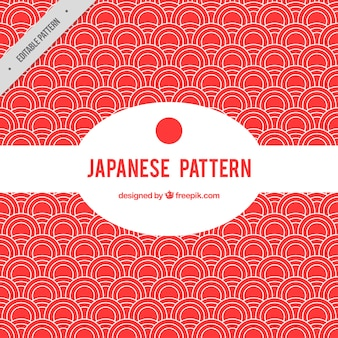 Red japanese pattern with circles
