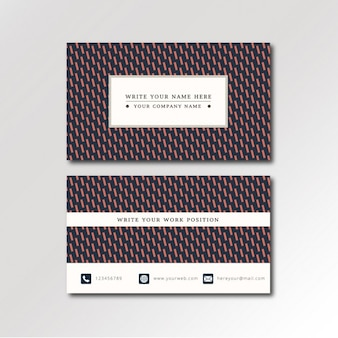 Red lines pattern business card