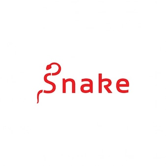 Red logo with a snake