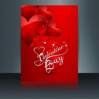 Red love card with hearts