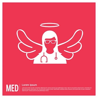 Red medical background
