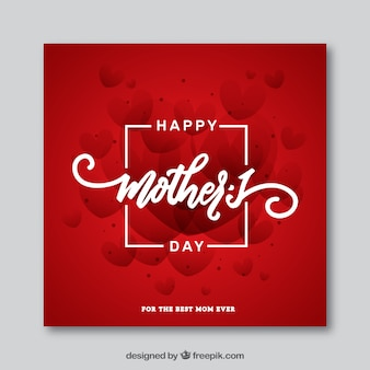 Red mother's day card