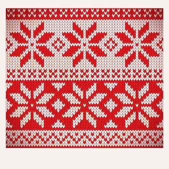 Red nordic fabric pattern