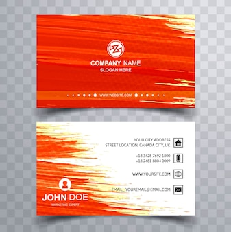 Red paint brush business card