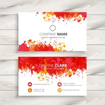 Red paint splash business card