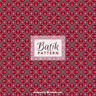 Red pattern of abstract floral shapes