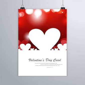 Red poster with white hearts