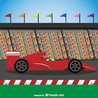 Red racing car vector