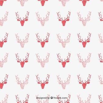 Red reindeer pattern