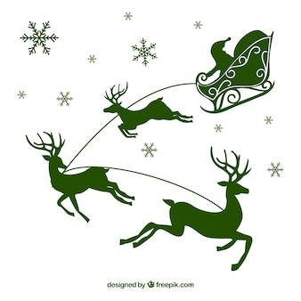 Red reindeer silhouette
