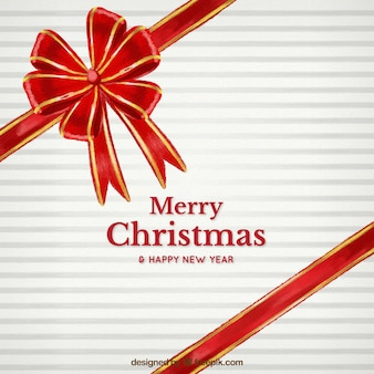 Red ribbon christmas background
