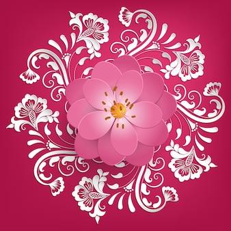 Red royal spring elegance ornament