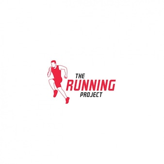 Red running logo