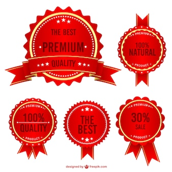 Red sales badges