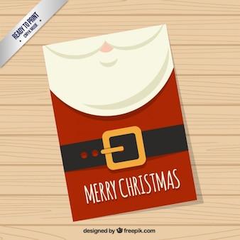 Red Santa Claus Card