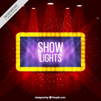 Red shiny background with spotlights