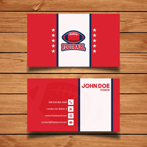 Red sports corporate card