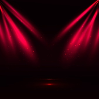 Red spotlight background