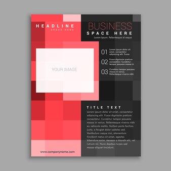 赤い四角いビジネスチラシポスターデザインテンプレート