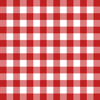 Red tablecloth vector