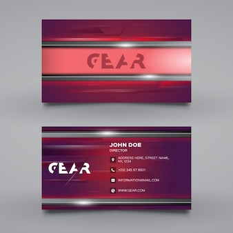 Red technological corporate card