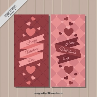 Red valentines day card pack