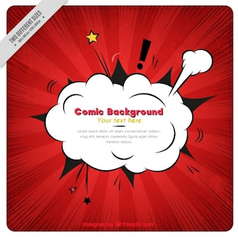 Red vintage comic background with effect explosion