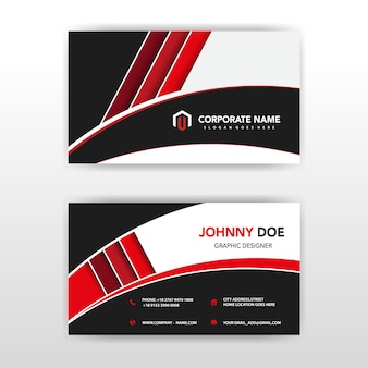 Red visit card vector illustration