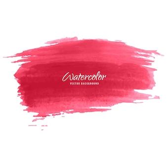 Red watercolor brush background