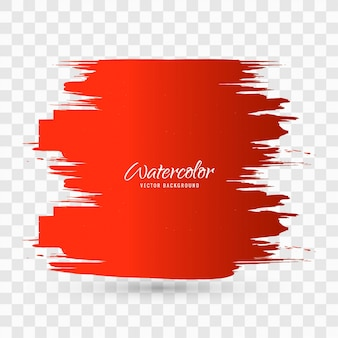 Red watercolor brush stroke background design