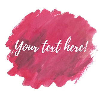 Red watercolor brushes with text template